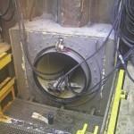 Kontrola osi mikrotunelu podczas wiercenia odcinka K9-K10