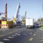 Skrzyżowanie ul. Połczyńskiej i Rotundy - widok na teren budowy