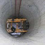 Zainstalowana rama pchająca w studni S16